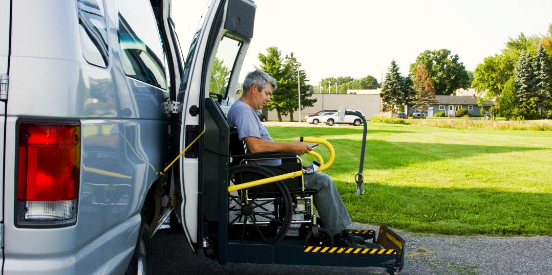 senior man sit in wheelchair